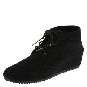 Black Suede Hidden Wedge Carly Boot!